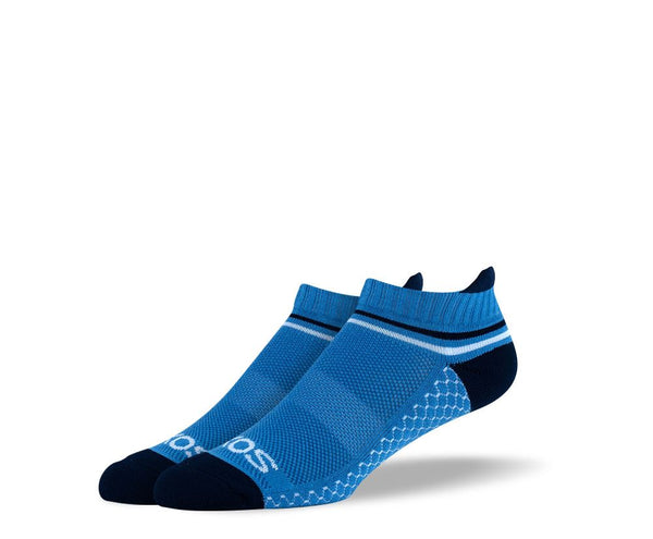 Mens Blue Ankle Athletic Socks