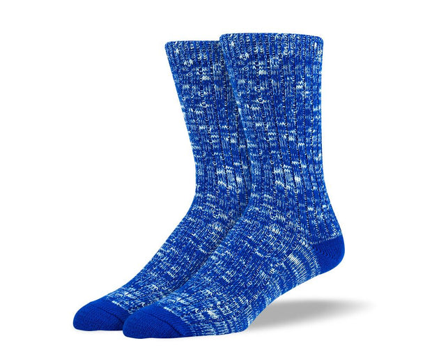 Mens Blue Casual Crew Socks