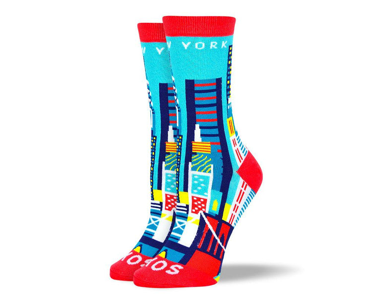 Women's Pattern New York Socks