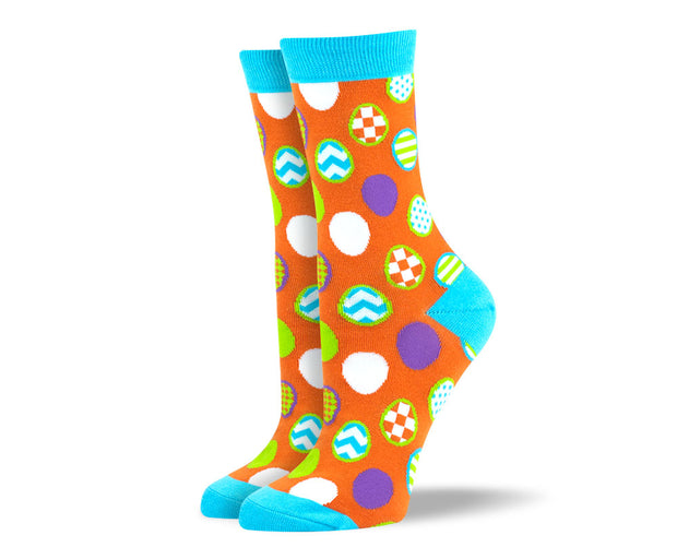 Orange Easter Women's Dress Socks