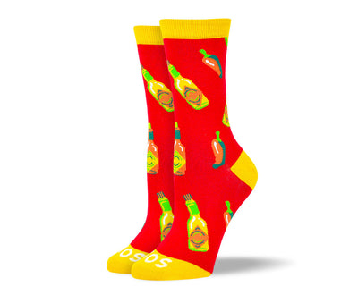 Women's Cool Red Hot Sauce Socks