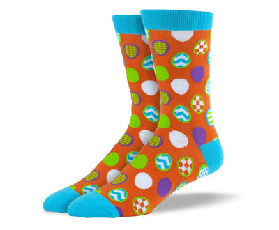 Orange Easter Men's Dress Socks