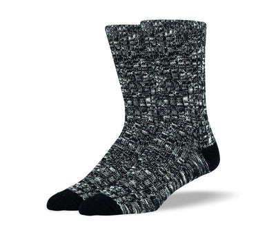Mens Black Casual Crew Socks