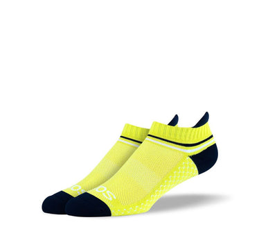 Mens Yellow Ankle Athletic Socks
