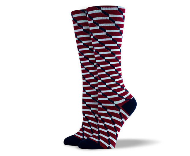 Women's 3D Rectangles Compression Socks