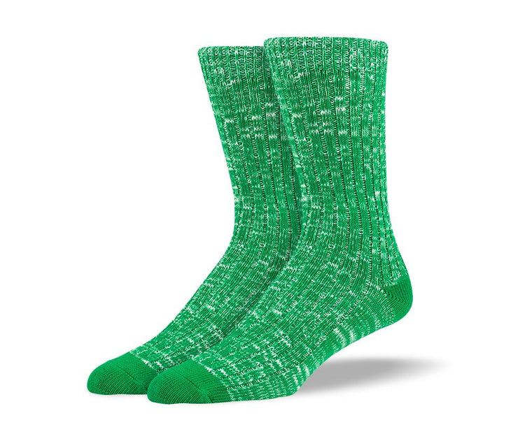 Mens Green Casual Crew Socks