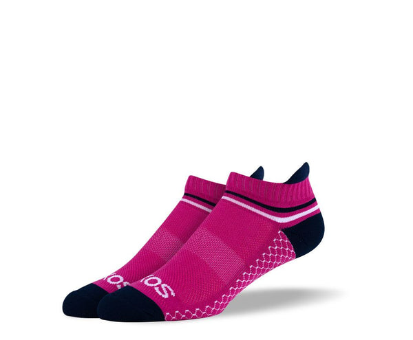 Women's Burgundy Athletic Ankle Socks