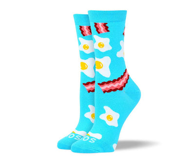 Womens Pattern Bacon & Eggs Socks