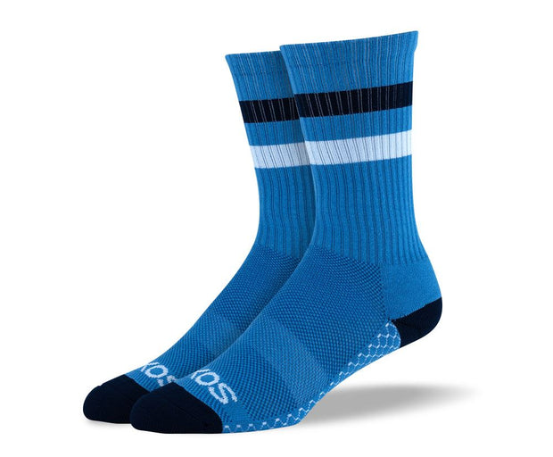 Men's Blue Athletic Crew Socks