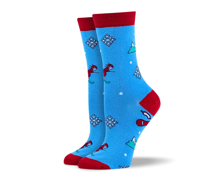 Women's Christmas Skiing Socks