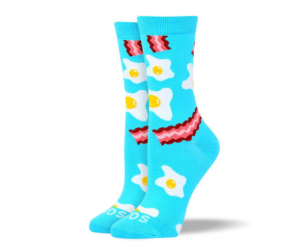 Womens Trendy Bacon & Eggs Socks