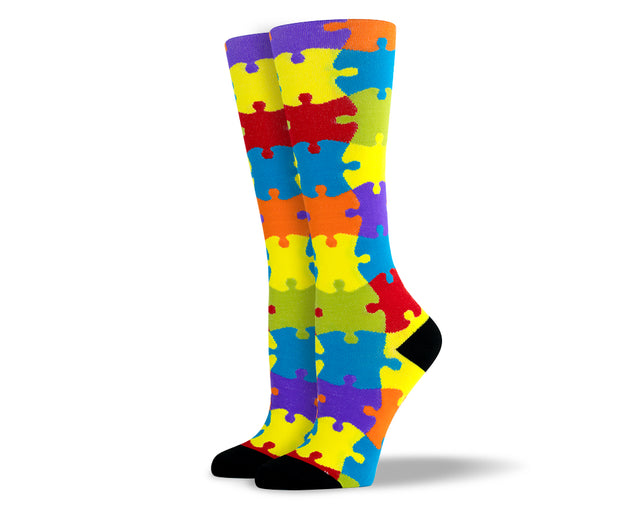 Women's Puzzle Compression Socks