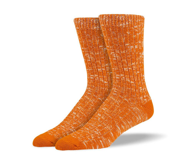 Men's Orange Casual Crew Socks
