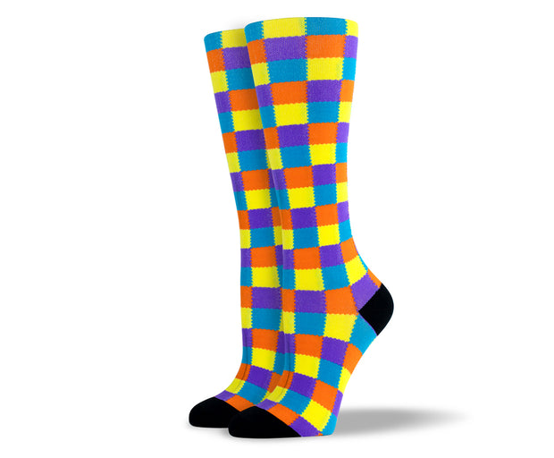 Women's Checkered Compression Socks