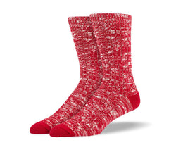 Men's Red Casual Crew Socks