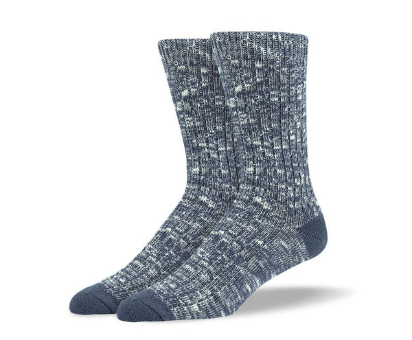Mens Grey Casual Crew Socks