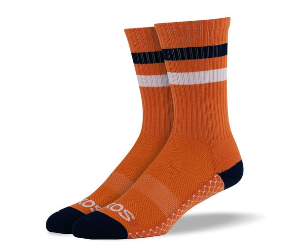 Men's Orange Athletic Crew Socks