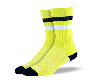 Men's Yellow Athletic Crew Socks