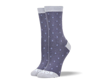 Women's Cool Grey Small Polka Dots Socks