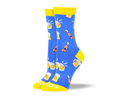 Women's Cool Blue Beer Socks