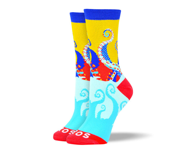 Women's Crazy Octopus Socks