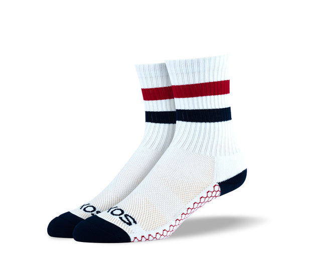 Women's White Athletic Crew Socks Bundle