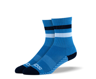 Women's Blue Athletic Crew Socks