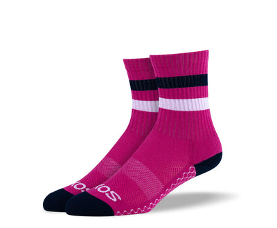 Women's Burgundy Athletic Crew Socks