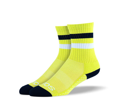 Women's Yellow Athletic Crew Socks