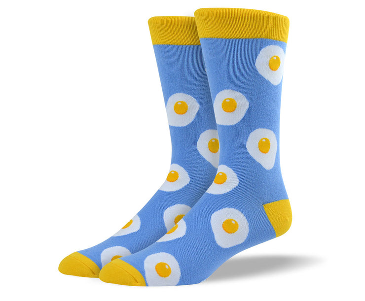 Mens Blue Bacon and Eggs Socks