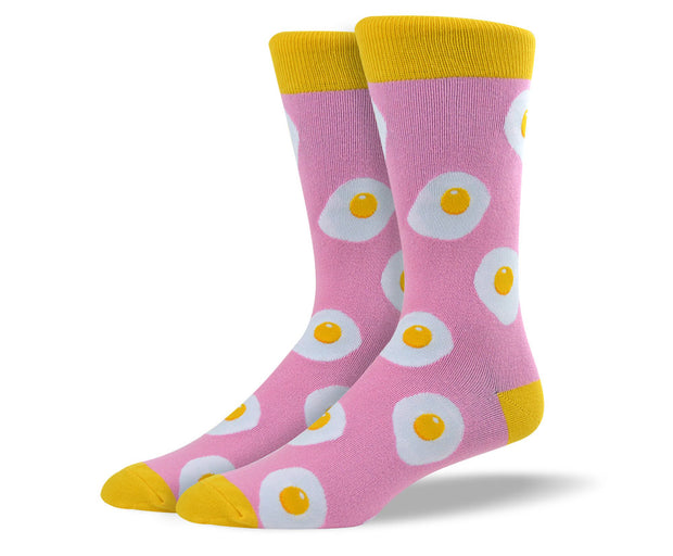 Mens Pink Eggs Socks