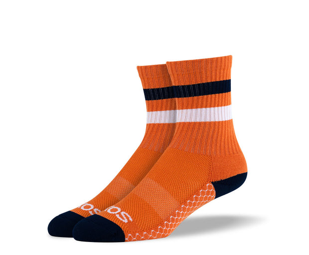 Women's Orange Athletic Crew Socks