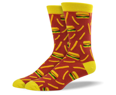 Mens Burger and Fries Socks