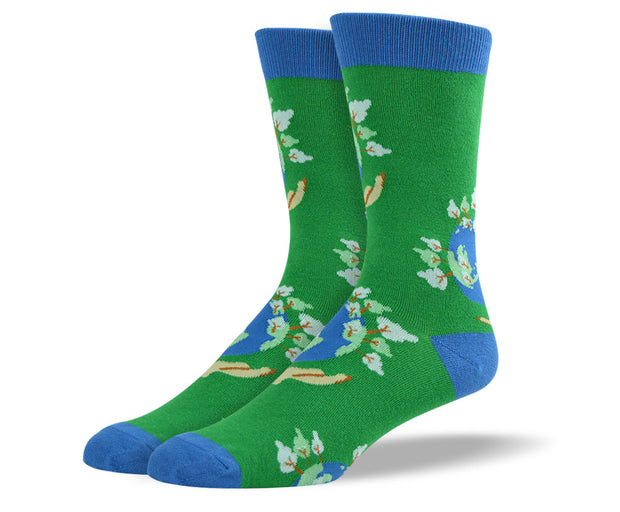 Mens Earth Day Socks