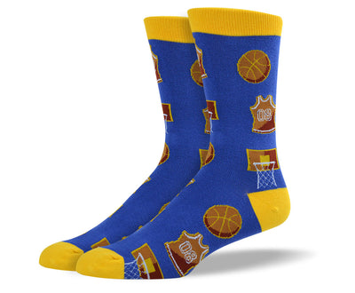 Mens Blue Basketball Socks