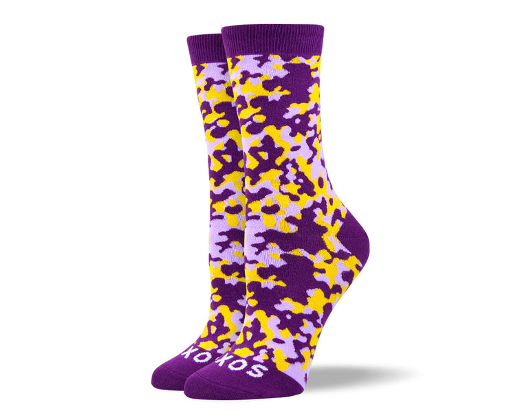 Women's Awesome Purple Camouflage Socks