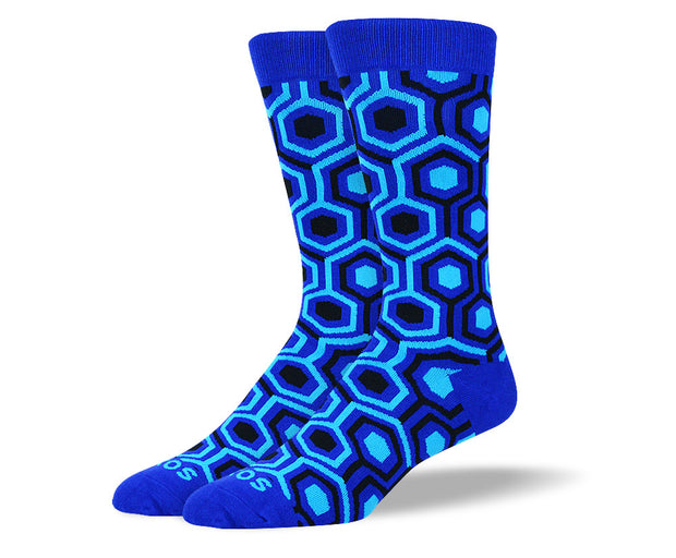 Men's Blue Cool Pattern Socks