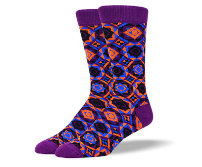 Men's Funky Purple Art Socks