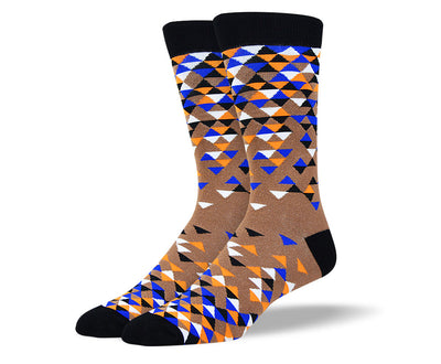 Men's Awesome Brown Triangle Socks