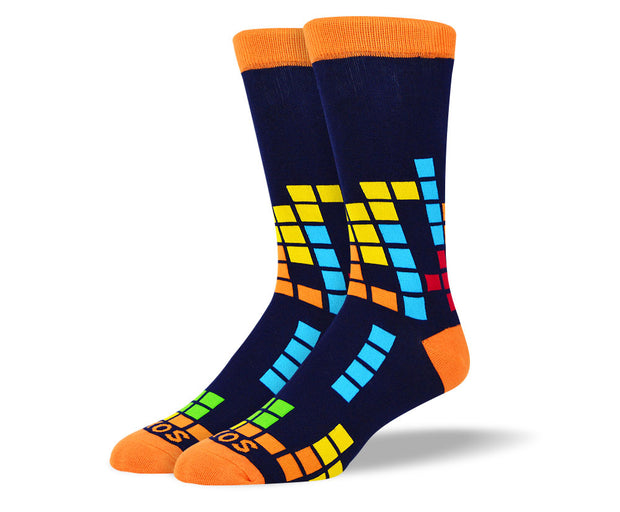 Men's Multi Color Block Socks