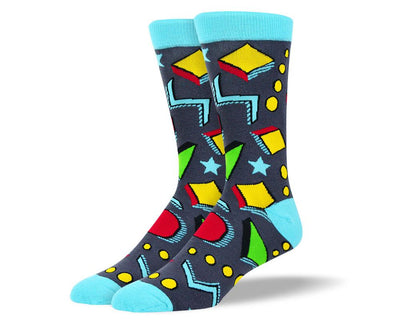 Men's Colorful Grey Art Socks