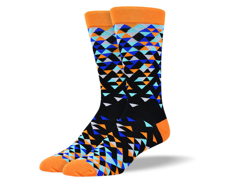 Men's Cool Black Triangle Socks