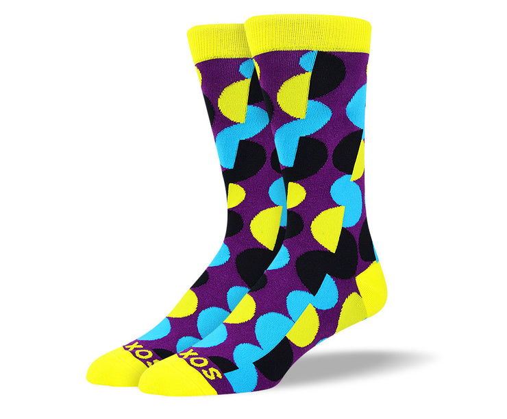 Men's Purple Crazy Dot Socks