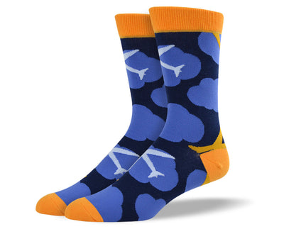 Mens Airplane Cloud Socks