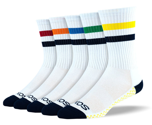 Mens White Crew Athletic Sock Bundle