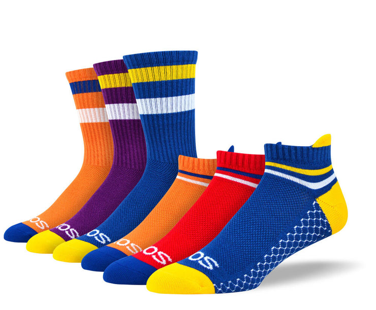 Men's Mixed Athletic Sock Bundle