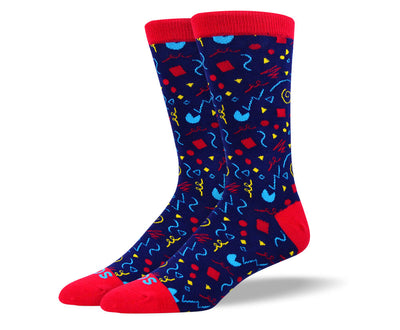 Men's Fun Blue Party Socks