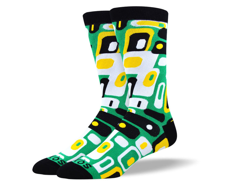 Men's Awesome Green Totem Socks
