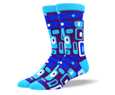 Men's Awesome Blue Totem Socks