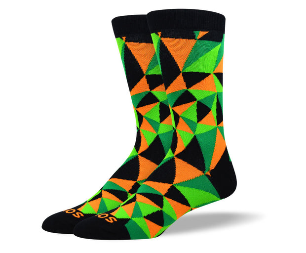 Men's Trendy Green Mosaic Socks